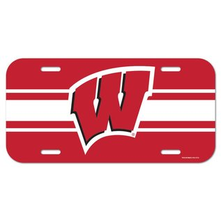 Wisconsin Badgers Plastic License Plate