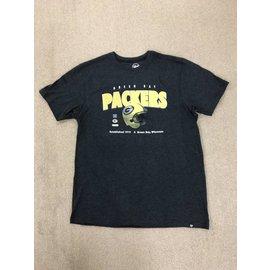 '47 Brand Green Bay Packers Men's Black Splitter Short Sleeve Tee