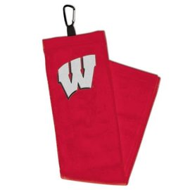 WinCraft, Inc. Wisconsin Badgers Golf Towel with Caribiner