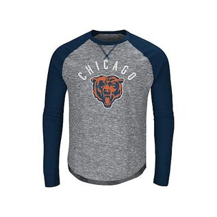Majestic Chicago Bears Men's Corner Blitz Long Sleeve Tee