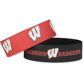 Wisconsin Badgers 2 Pack Wide Bracelets