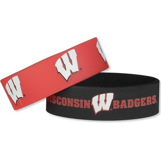 Aminco Wisconsin Badgers 2 Pack Wide Bracelets