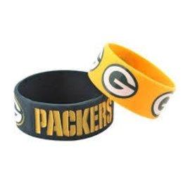 Green Bay Packers 2 Pack Wide Bracelets