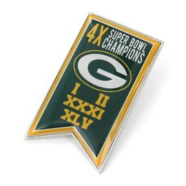 Aminco Green Bay Packers Championship Banner Pin