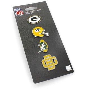 Green Bay Packers Logo Evolution 4 Pin Set