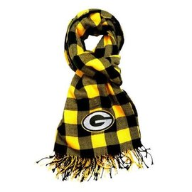 Little Earth Green Bay Packers Plaid Blanket Scarf