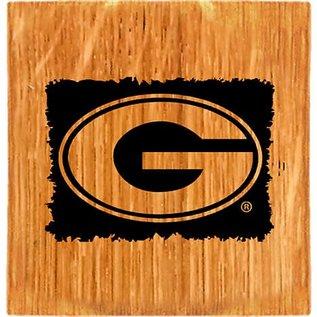 Green Bay Packers Wine Barrel Coasters - Set of 4
