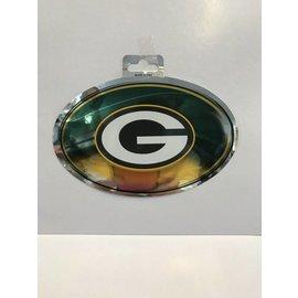 Green Bay Packers Metallic Oval Sticker