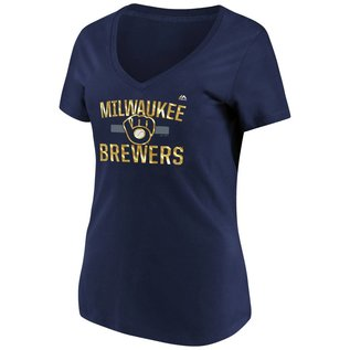 Milwaukee Brewers Women's Relentless Attack Short Sleeve Tee
