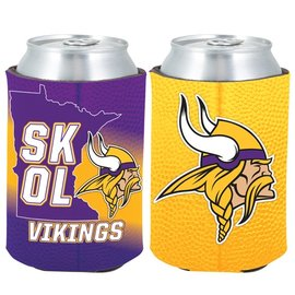 Minnesota Vikings SKOL 2FER Can Cooler