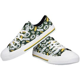 Forever Collectibles Green Bay Packers Women's Canvas Shoes
