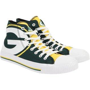 Green Bay Packers Men's Canvas Big Logo High Top Sneaker
