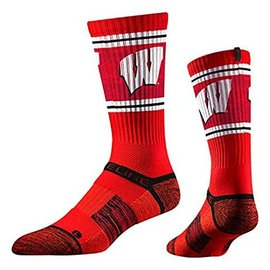 Wisconsin Badgers Men's Premium Crew Sock Large