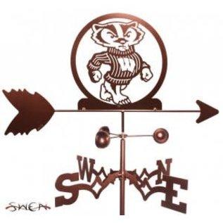 Wisconsin Badgers Copper Weathervane