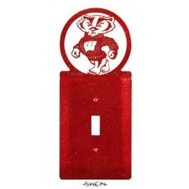 Wisconsin Badgers Single Switch Plate