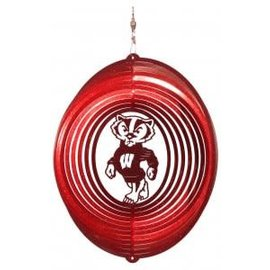 Wisconsin Badgers 12 Inch Swirly