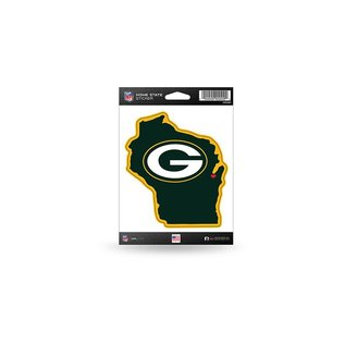 Rico Industries, Inc. Green Bay Packers Home State Sticker
