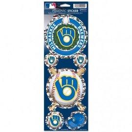 Milwaukee Brewers B&G logo Prismatic Decal