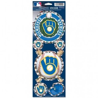 WinCraft, Inc. Milwaukee Brewers Prismatic Decal Set