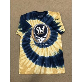 Milwaukee Brewers Men's Grateful Dead Logo Tie Dye Short Sleeve Tee