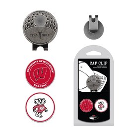 Wisconsin Badgers Magnetic Cap Clip w/ Two Markers