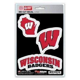Wisconsin Badgers Die Cut Decal 3-Pack
