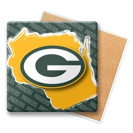 Green Bay Packers State Stone Square Coaster