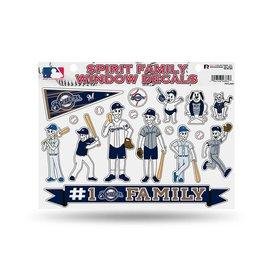 Milwaukee Brewers family sticker sheet