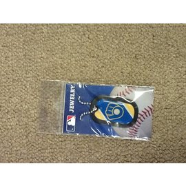 Milwaukee Brewers dogtag necklace - Ball & glove logo