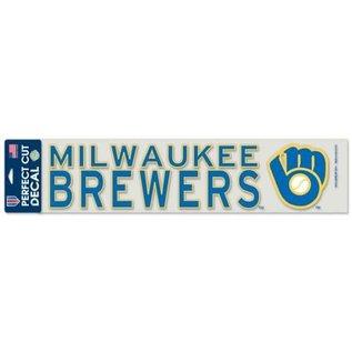 WinCraft, Inc. Milwaukee Brewers 4x17 Perfect Cut Decal