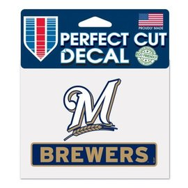Milwaukee Brewers Perfect Cut Color 4.5X5.75 Decal - M logo