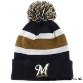 Milwaukee Brewers Navy Breakaway knit hat