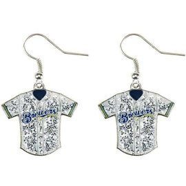 Milwaukee Brewers Glitter jersey dangle earrings