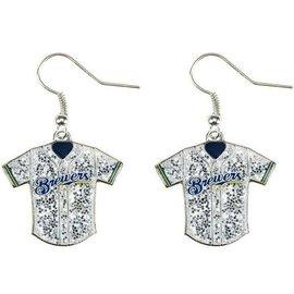 Milwaukee Brewers Glitter jersey dangle earrings