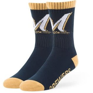 '47 Brand Milwaukee Brewers Bolt Tall Sock - Size Large