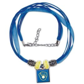 Milwaukee Brewers Lifetile Necklace - Ball & Glove logo
