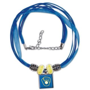 WinCraft, Inc. Milwaukee Brewers Lifetile Necklace - Ball & Glove Logo