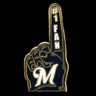 WinCraft, Inc. Milwaukee Brewers #1 fan hand pin - M logo