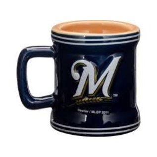 Boelter Brands LLC Milwaukee Brewers 2oz Sculpted Mini Mug Shot Glass