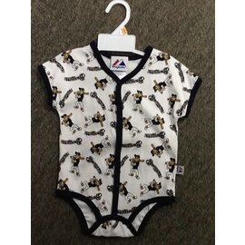 Milwaukee Brewers infant onesie with Bernie Brewers all over print