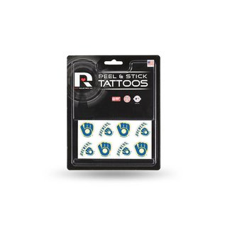 Rico Industries, Inc. Milwaukee Brewers Peel And Stick Tattoo Sheet of 8