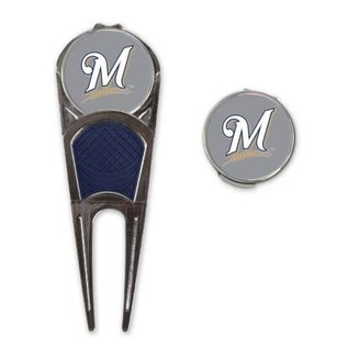 WinCraft, Inc. Milwaukee Brewers Ball Mark Repair Tool and Hat Clip