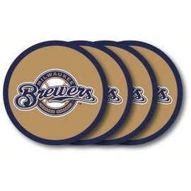 Milwaukee Brewers Vinyl Coaster Set