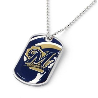 Milwaukee Brewers Dynamic Dog Tag Necklace