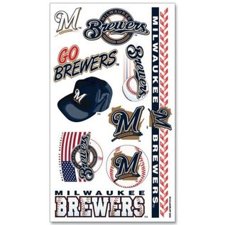 WinCraft, Inc. Milwaukee Brewers Tattoo Sheet