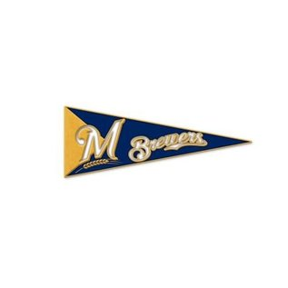 WinCraft, Inc. Milwaukee Brewers Pennant Pin