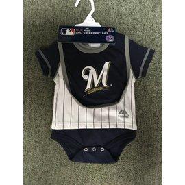 Milwaukee Brewers Newborn Onesie, Bib, and Booties