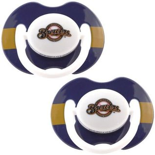 Baby Fanatics Milwaukee Brewers 2 Pack Pacifiers