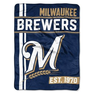 Northwest Milwaukee Brewers 46X60 Micro Raschel Throw