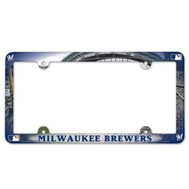 Milwaukee Brewers full color license plate frame